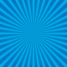 Blue Rays Background. Vector