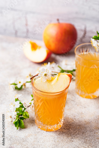 Glasses with fresh apple juice or cider Poster Mural XXL