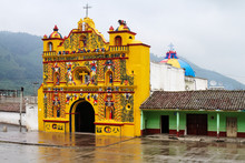 Colorful Church Of San Andres Xecul
