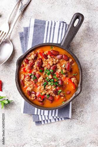 Fotografia Traditional Mexican dish chili con carne