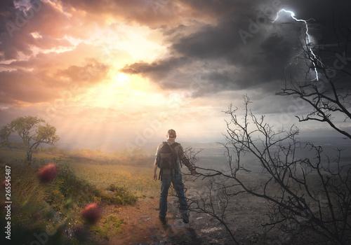 Fotografía A man stuck on the trail