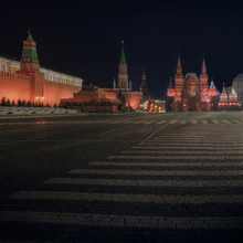 Red Square, Lenin's Tomb, And Kremlin, Moscow, Russia