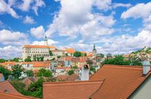 Rooftops And Castle, Prague, Czech Republic