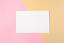 Blank White Paper Card On Two ...