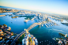 Aerial View Of Sydney Cityscap...