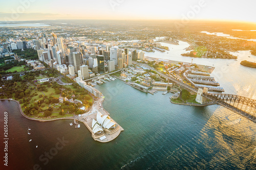 Fotomural Aerial view of Sydney cityscape, Sydney, New South Wales, Australia
