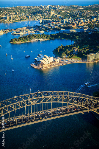 Fototapeta Aerial view of Sydney cityscape, Sydney, New South Wales, Australia