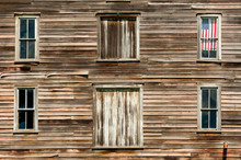 Wooden House Exterior With Ame...