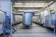 Vats In Wine Processing Plant