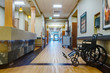 Empty hallway in assisted living facility
