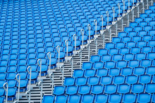Blue Seats In Stadium