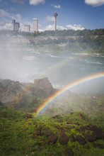 Double Rainbow Over River, Niagara Falls, New York, United States
