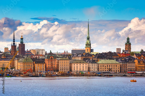 Autocollant pour porte Stockholm Gamla Stan in Stockholm, Sweden