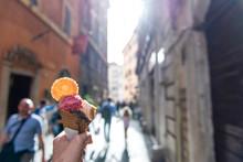 Holding Gelato Ice Cream
