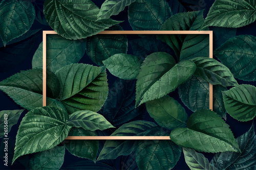 Forest leaf frame