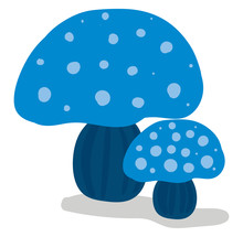 Clipart Of Two Beautiful Blue-...