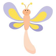 Emoji Of A Smiling Dragonfly V...