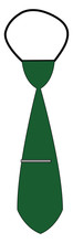 Clipart Of A Green Tie With A ...