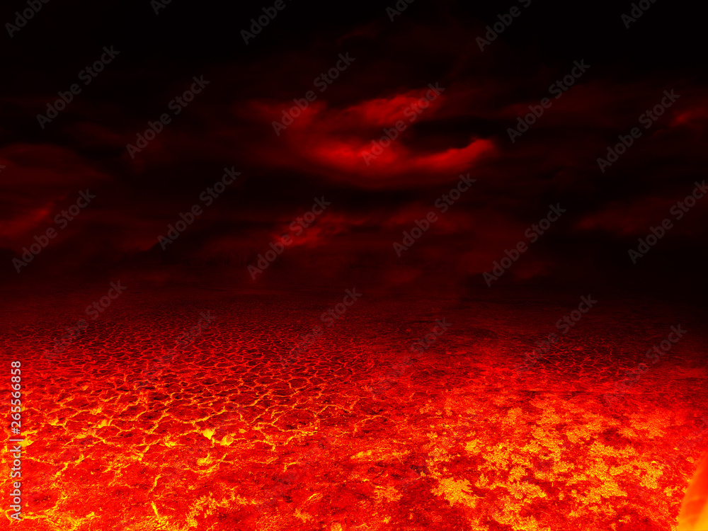 Fototapety, obrazy: red lava texture background