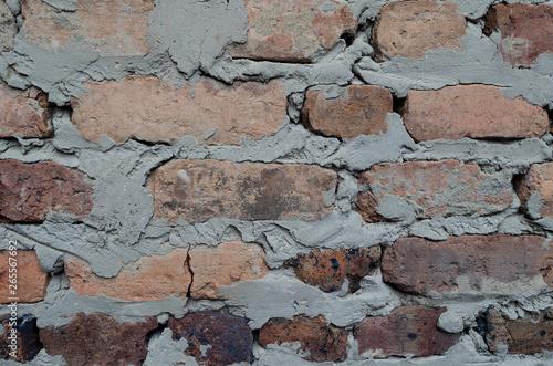 Fotografía  fondo de muro de ladrillos rusticos