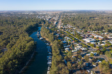 The Town Of Echuca On The Bank...