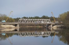 Repair Of The Bridge In The City, Construction Of The Bridge, Crane On The Bridge