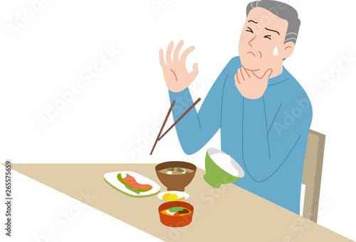 Photo 高齢者の家庭内事故 食べ物を詰まらせる