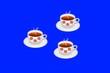 Leinwanddruck Bild - three cupes of coffee