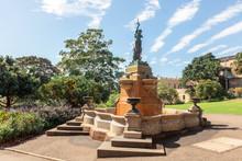 Goddess Diana, Lewis Wolfe Levy Memorial Drinking Fountain, Royal Botanic Garden In Sydney, Australia, Erected In 1889.