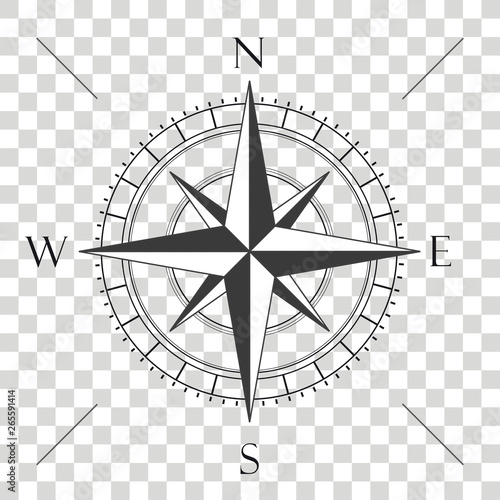 Leinwand Poster Compass Cardinal Points Transparent