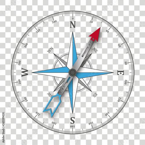Fotografia Compass Silhouette Transparent