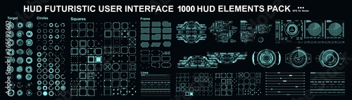 HUD elements mega set pack Fototapet