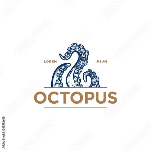 Octopus tentacles logo concept Billede på lærred