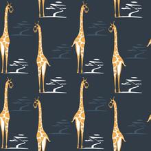 Giraffe Seamless Pattern With ...