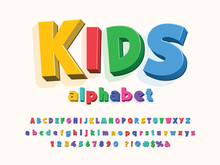 Colorful Stylized Kids Alphabet Design
