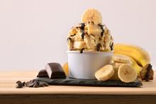 Banana Ice Cream Cup Decorated...