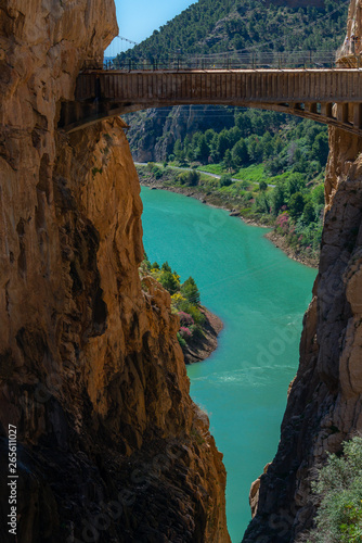 Canvastavla Gorge of Gaitanes and 'Caminito del Rey' path, Malaga, Spain