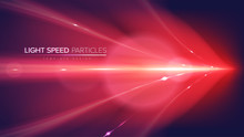 A Conceptual Illustration Of A Light Speed Art In Vector. It Is Suitable To Be Used For Science Or Technology Related-theme.