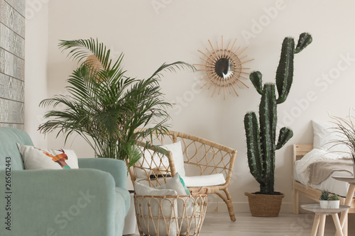 Photo  Modern minimal home interior design