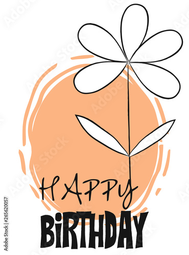 Foto op Canvas Retro sign cute happy birthdat card
