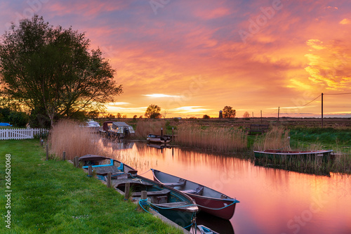 Boats at West Somerton Canvas Print