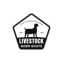 Boer Goat Livestock Logo Inspiration