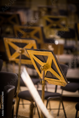 Photographie Orchestra empty seats on a stage