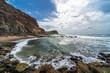 Coast of the Atlantic Ocean in Portugal.