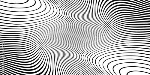 Fotografie, Obraz  Wave monochrome background