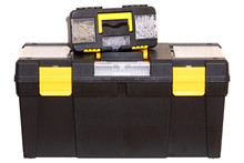Tool Boxes Isolated. Closeup O...