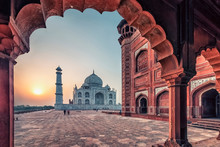 Taj Mahal In Sunrise Light, Ag...