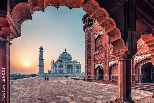 Taj Mahal in sunrise light, Agra, India Canvas Print