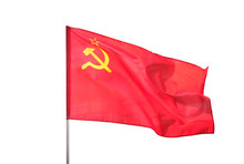 Soviet Union, Ussr Flag Isolat...