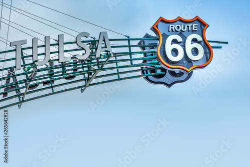Route 66 sign, Tulsa Oklahoma Canvas Print